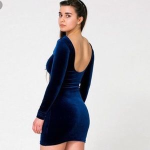 American Apparel sz L Velvet Skater Dress